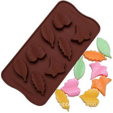 8 Leaf Silicone Chocolate Mold FDA LFGB Standard Silicon Biscuit Cookies Mould Multi Cavity Chocolate Tray Mold