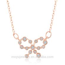 Minimalistic coreano mercado joyería de plata esterlina collar de cadena