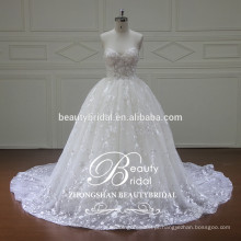 XF16071 vestido de noiva de marfim real straapless nupcial Guangdong vestidos de casamento de verão não-caros