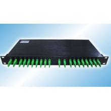 19 pulgadas 1u montar en rack 8 canales Mux / demux doble fibra óptica CWDM