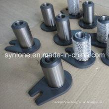 Eje de piezas de montaje de soldadura y mecanizado OEM con oreja