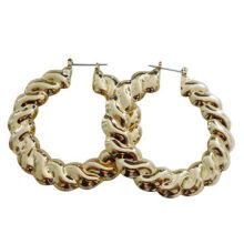 New Design Gold-plated Fashion Hoop Earrings for Women, HypoallergenicNew