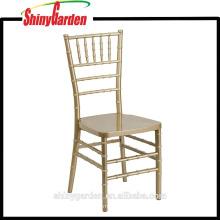 Resina silla Chiavari boda, oro / plata / blanco (KD)