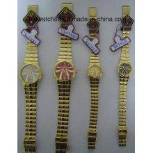 Japan Bewegung Antike Uhren für Männer Frauen Gold Tone
