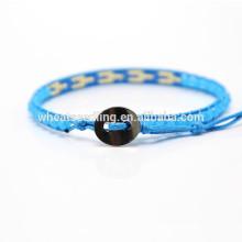 Moda moda nova moda tecer grânulos japão ajustável pulseira corda personalizada