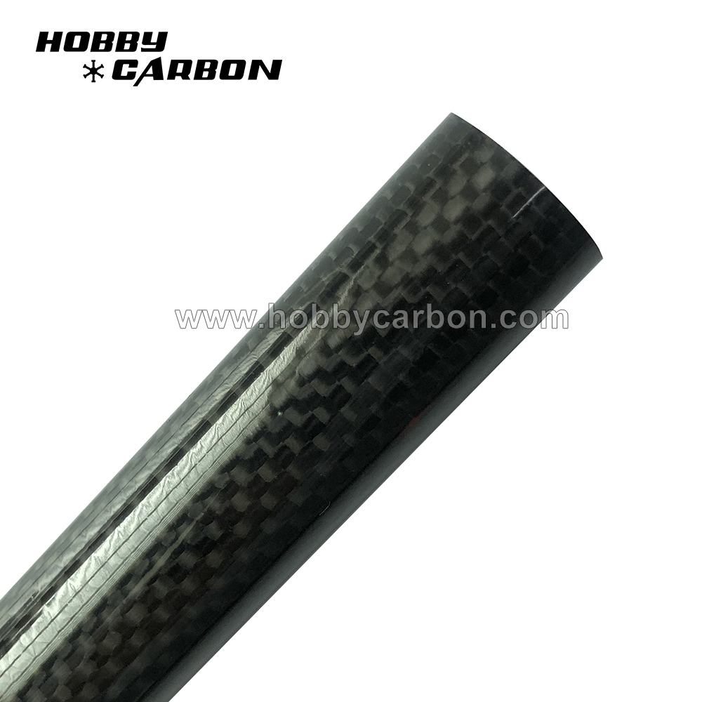 twill glossy carbon fiber tube