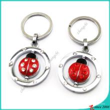 Red Metal Ladybird Schlüsselanhänger für Kinder (KR16041912)
