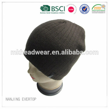 Soft Touch Rib Knit Beanie With Fleece Lining