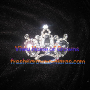 Crowns Pin With Big Diamond