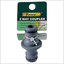 Garden Hose Fittings Hose Connector 2-Way ABS Quick Coupler