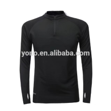 2017 nuevo modelo corto medio zip de entrenamiento de fútbol en blanco de fútbol de manga larga jersey de fútbol de diseño