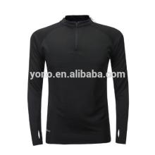 2017 novo modelo curto meia zip terno de treinamento de futebol em branco design de futebol de manga longa camisa de futebol