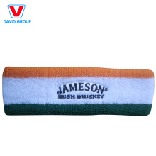 High Quality Embroidery Custom Sports Sweatband Headband