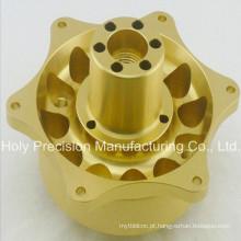 Encaixe de bronze fazendo à máquina personalizado das peças do CNC dos serviços