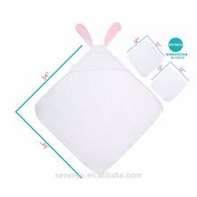 PremiumTowels Secar Rapidamente Pele Sensível tamanho Personalizado Animal rosto 100% bambu bebê toalha com capuz