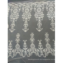 Stickerei weg von der weißen einzigartigen handgemachten Spitze für Hochzeits-Kleid 11