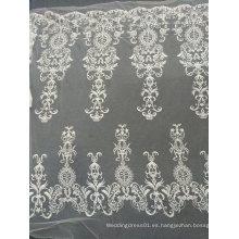 Bordado del cordón hecho a mano único blanco para el vestido de boda 11