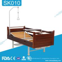 Lit réglable en bois manuel d'hôpital de l'équipement médical SK010 à la maison