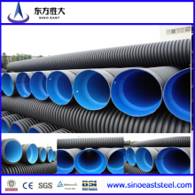 1200mm HDPE Pipe Large Diameter Steel Reinforced Polyethylene Spiral Corrugated Pipe