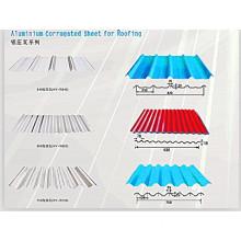 Aluminium Corrugated Sheet for Roofing. Aluminium Roofing Sheet (1100/8011)