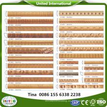 Moldura de paneles de madera tallada