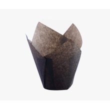 Tazza di muffin di carta marrone