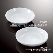 Saludable duradero blanco de porcelana horno seguro bocadillos