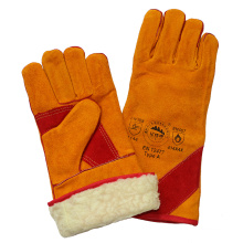 Boa Full Lining Cow Split Leather Cut Resistant Welding Gloves with En407