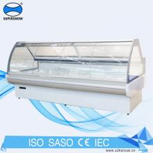 escaparate del refrigerador del mostrador de servicio de la puerta de vidrio corrediza