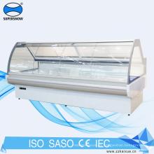 escaparate del refrigerador del mostrador de servicio de la puerta de vidrio