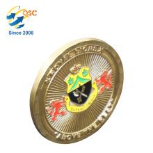 Presentes de coleção promocional 3D Brass preço de fábrica Bronze desafio bonito moeda