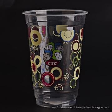 Copos plásticos descartáveis personalizados do logotipo para Drinkings frios