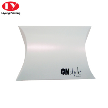 Custom logo white pillow box for underwear