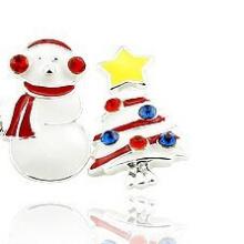 Joyería navideña / Pendiente navideño / Muñeco de nieve navideño (XER13367)