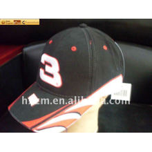 baseball cap with embroidered number logo