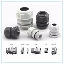 IP 68 Nylon Fixed waterproof White Cable Gland with CE approvals