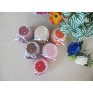 Farbige duftende Plastikdeckel-Glaskerze