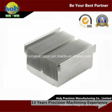 CNC Machining Silver Tone Aluminium Radiator LED Lamp Heat Sink