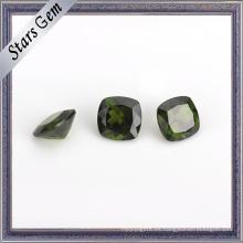 Cojín corte natural Diopside Gemstone para joyería