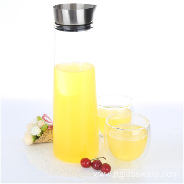 Hot sale good quality for Water Pitcher 50oz Heat Resistant High Borosilicate Glass Pitcher export to Tokelau Suppliers