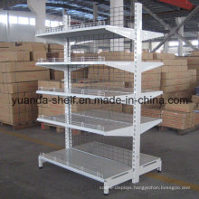 Supermarket Display Double Side Face Back Net Wire Metal Shelf