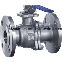 2PC Flange Floating Ball Valve with Handle