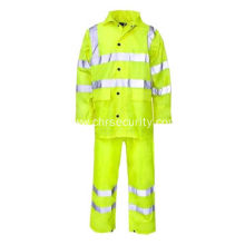 Reflective safety raincoat and bibs