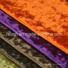 Perforación de flores de hielo Tejido de cortina de terciopelo brillante Tejido de sofá