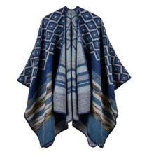 Mode Lumière Confortable Jolie Femme Fille AZTEC et rayure Poncho & Wraps viscose faux pashmina châle turc pashmina