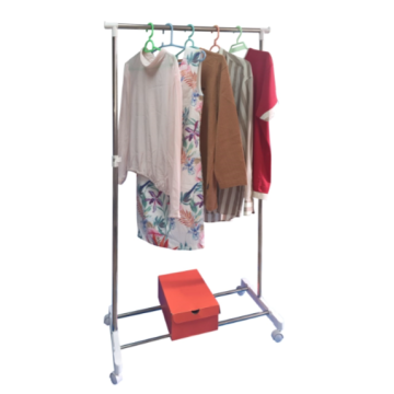 Single Bar Clothes Hanger Rack