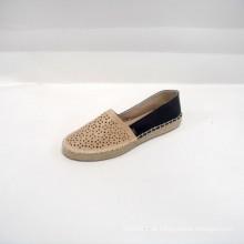 2014 Fabrik direkt verkaufen niedlichen weiblichen Banded Flats Schuhe PU Schuhe Freizeitsport der Laser PU OAK Espadrille