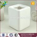 white bathroom accessory ceramic toothbrush holder for family