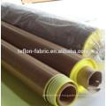 Tissu en fibre de verre revêtu de ptfe avec adhésif