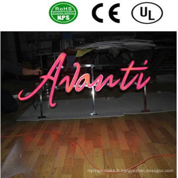 Lettre acrylique de haute qualité signée par de grandes lettres LED
